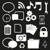 Set of silhouettes icon Royalty Free Stock Photography
