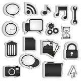 Set of silhouettes icon Stock Image