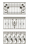Set of silhouettes of iron fences Royalty Free Stock Photography