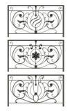 Set of silhouettes of iron fences Royalty Free Stock Photo