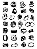 Set of silhouettes of rings Royalty Free Stock Photo