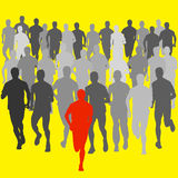 Set of silhouettes. Runners on sprint, men. vector. Set of silhouettes Runners on sprint, men. vector illustration Royalty Free Stock Images