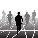 Set of silhouettes. Runners on sprint, men. vector. Set of silhouettes Runners on sprint, men. vector illustration Royalty Free Stock Photo