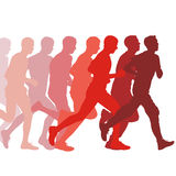Set of silhouettes. Runners on sprint, men. vector. Set of silhouettes. Runners on sprint men. vector illustration Stock Photo