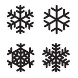Set of silhouettes snowflakes on White. Vector Illustration. EPS10 stock illustration