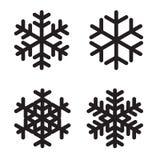 Set of silhouettes snowflakes on White. Vector Illustration. EPS10 Stock Photo