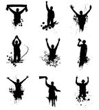 Set of silhouettes. For sports championships Royalty Free Stock Image