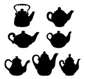Set of silhouettes teapots Royalty Free Stock Image