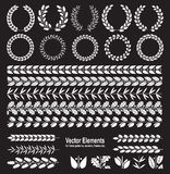 Set of silhouettes of wreaths Royalty Free Stock Photography