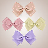 Set of silk bows Royalty Free Stock Photography