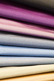 Set of silk textiles. Set of various multicolored silk or satin textiles Royalty Free Stock Photos