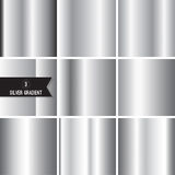 Set of silver foil texture Royalty Free Stock Photography