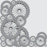 Set of silver gears Stock Images