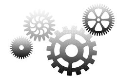 Set of silver gears Royalty Free Stock Photography