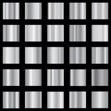 Set of silver gradient. Metallic gradient collection. Vector. Set of silver gradient. Metallic gradient collection. Vector EPS 10 stock illustration
