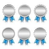 Silver Medals Royalty Free Stock Photo