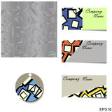 Set - Silver seamless geometric pattern Royalty Free Stock Photo