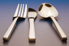 Set silverware Obrazy Royalty Free