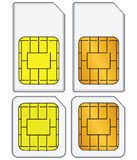 Set of SIM cards Stock Photography