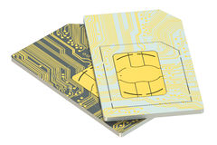 Set of SIM cards Royalty Free Stock Photography