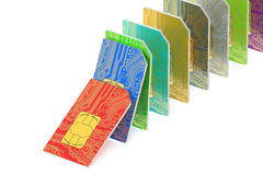 Set of  SIM cards Royalty Free Stock Image