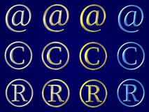 Set simbols Lizenzfreie Stockbilder
