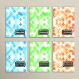 Set simple abstract background of colored squares.  Royalty Free Illustration