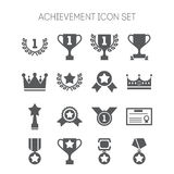 Set of simple achievement icons for web design, sites, applications, stickers and games Stock Images