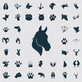 Set of simple animals icons. Simple animals icons set for web and mobile design Royalty Free Stock Images