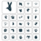 Set of simple animals icons. Simple animals icons set for web and mobile design Stock Photos
