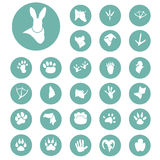 Set of simple animals icons. Simple animals icons set for web and mobile design Stock Image