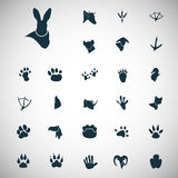 Set of simple animals icons. Simple animals icons set for web and mobile design Stock Images
