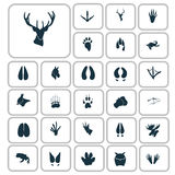 Set of simple animals icons. Simple animals icons set for web and mobile design Royalty Free Stock Image