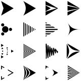 Set of 16 simple arrows icons. In black color. included EPS8 format Vector Illustration