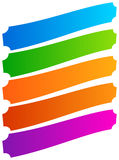 Set of simple banner, button shapes. Colorful banners, buttons i Stock Photo