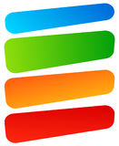 Set of simple banner, button shapes. Colorful banners, buttons  Royalty Free Stock Images