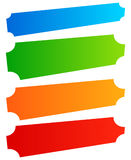 Set of simple banner, button shapes. Colorful banners, buttons  Royalty Free Stock Photo