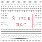 Set of simple brushes Royalty Free Stock Photography