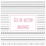 Set of simple brushes Stock Images
