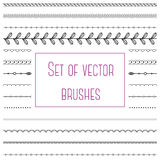 Set of simple brushes Stock Photos