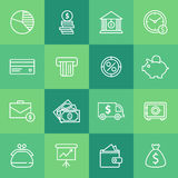 Set of simple business icons Royalty Free Stock Photo
