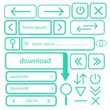 A set of simple buttons for web design vector EPS10.  Royalty Free Stock Images
