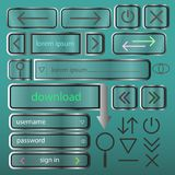 A set of simple buttons for web design vector EPS10.  Royalty Free Stock Photos