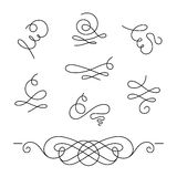 Set of simple calligraphic swirls and dividers Royalty Free Stock Photos