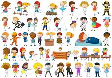 Set of simple characters. Illustration stock illustration
