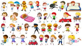 Set of simple characters. Illustration royalty free illustration
