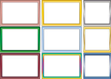 Set of simple color photo frames Royalty Free Stock Photo
