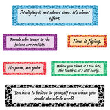 Set of simple colored frames for text. Blue, purple, orange, red, black, green. Motivational quotes and sayings in the framework. . Samples in the Swatches Vector Illustration
