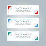 A set of simple colorful horizontal banners with place for you t Stock Photos