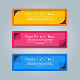 A set of simple colorful horizontal banners with place for you t Royalty Free Stock Images